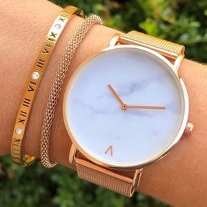 Inspired Closet Jewelry - 3 FOR $25 • Rose Gold Roman Numerals Bangle
